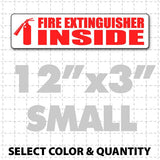 "Fire Extinguisher Inside Magnetic Sign 12"" X 3"" - Wholesale Magnetic Signs"