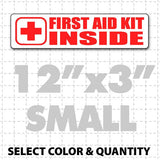 "First Aid Kit Inside Magnetic Sign 12"" X 3"" - Wholesale Magnetic Signs"