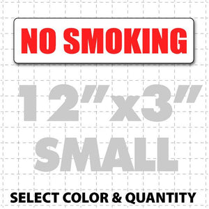 "No Smoking Magnetic Sign 12"" X 3"" - Wholesale Magnetic Signs"