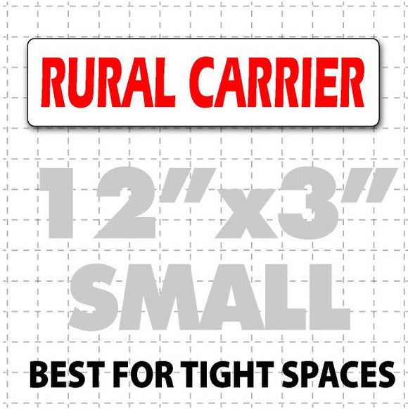 Rural Carrier Magnetic Sign 12