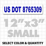 "12"" X 3"" USDOT Number Magnetic Sign - Wholesale Magnetic Signs"
