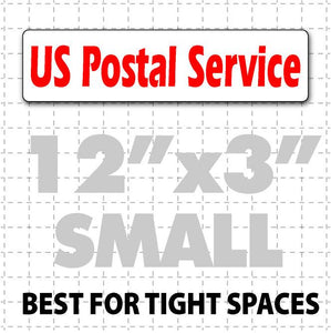"12""X3"" US Postal Service Magnetic Sign for rural carriers"