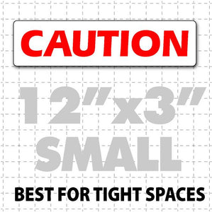 "12""X3"" Caution Magnetic Sign for Vehicles - Wholesale Magnetic Signs"