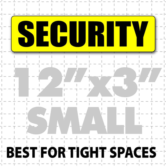 Magnetic Security Sign for patrol vehicles 12