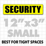 "Magnetic Security Sign for patrol vehicles 12"" x 3"" - Wholesale Magnetic Signs"