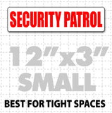 "12"" x 3"" Magnetic Security Patrol Vehicle Sign - Wholesale Magnetic Signs"