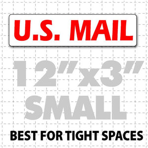 "12""X3"" US Mail Magnetic Sign for USPS rural carriers red & white"