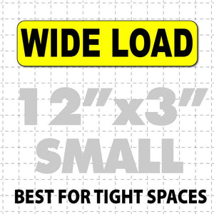 "Wide Load Magnetic Sign 12x3"" - Wholesale Magnetic Signs"