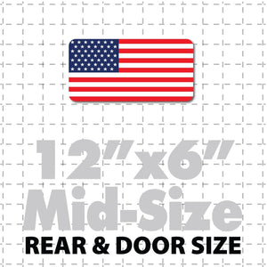 "12x6"" United States of America Flag Decal or Magnet USA Flag Stars & Stripes - Wholesale Magnetic Signs"