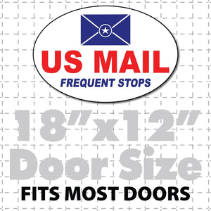 oval us mail frequent stops magnet 18x12""