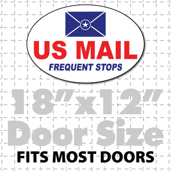 oval us mail frequent stops magnet 18x12