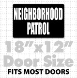 "18""x 12"" Magnetic Neighborhood Patrol Sign for neighborhood watch safety vehicles reflective text available"