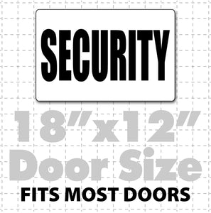"18x12"" Magnetic Security Sign for security guard vehicles, school security, neighborhood watch, church security car magnets"