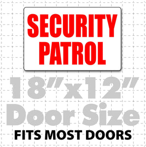 "Magnetic Security Patrol Sign 18"" x 12"" - Wholesale Magnetic Signs"