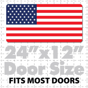 "24x12"" United States of America Flag Decal or Magnet USA Flag Stars & Stripes - Wholesale Magnetic Signs"