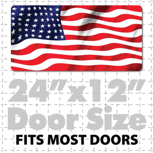 Large USA Flag Magnet Decal Patriotic American Flag Sign sticker for cars trucks & vans with waving in wind stars & stripes