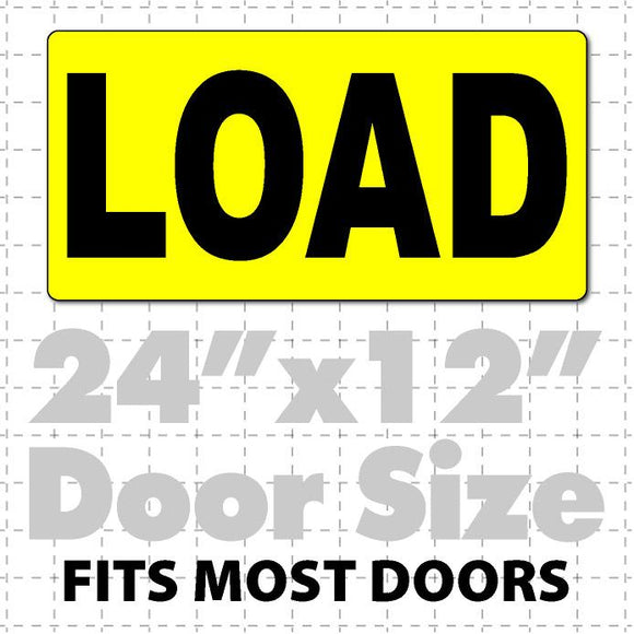 Load Magnetic Sign for Oversize Load Trucks 24x12 - Wholesale Magnetic Signs