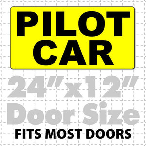 Pilot Car Magnetic Sign for Heavy Load Escort 24x12 - Wholesale Magnetic Signs