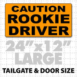 "Caution Rookie Driver Magnetic Car Sign 24"" X 12"" - Wholesale Magnetic Signs"