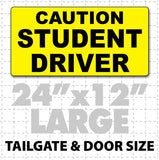 "Caution Student Driver Magnetic Sign 24""X12"" - Wholesale Magnetic Signs"