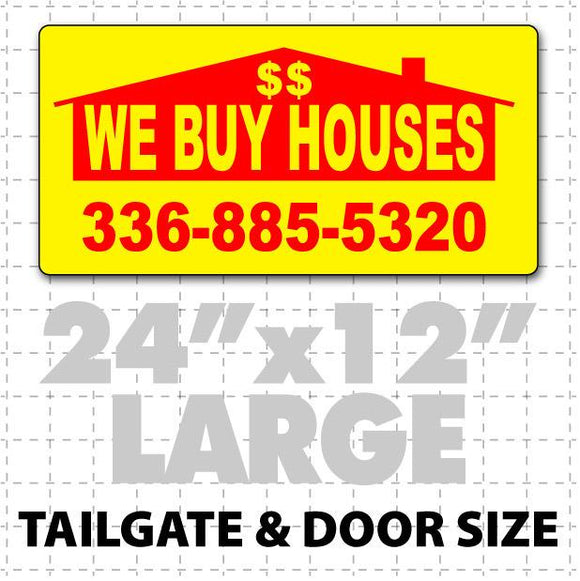 We Buy Houses Magnetic Sign 24