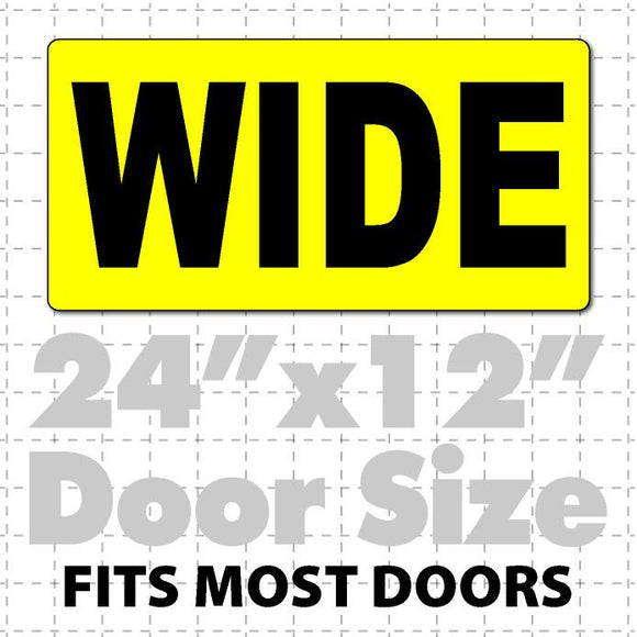 Wide Magnetic Sign for Oversize Load Vehicles 24x12 - Wholesale Magnetic Signs