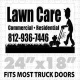 Lawn Care Magnetic sign  (layout 4) - Wholesale Magnetic Signs