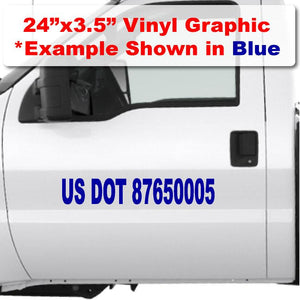 "US DOT complaint truck number sticker large decal to display numbers that USDOT requires on trucks from 50' away 3"" tall #"