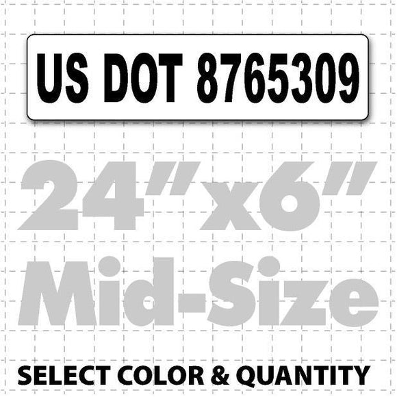 US DOT Number Magnetic Sign 24