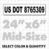 "US DOT Number Magnetic Sign 24"" X 6"" - Wholesale Magnetic Signs"