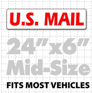 "US Mail Magnetic Sign for Postal Workers 24""X6"" - Wholesale Magnetic Signs"