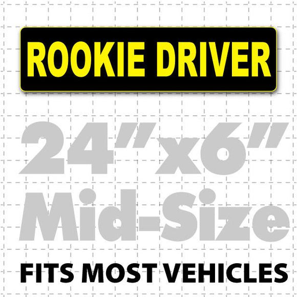 Rookie Driver Car Sign Magnet 24