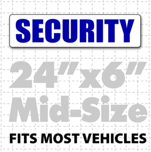 "Magnetic Security Sign for vehicles 24"" x 6"" - Wholesale Magnetic Signs"