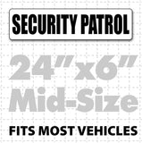 "24"" x 6"" Magnetic Security Patrol Sign - Wholesale Magnetic Signs"