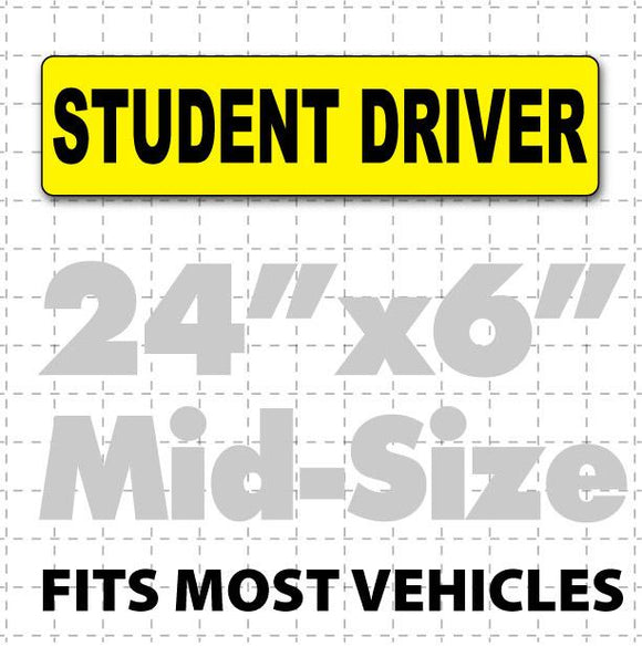 Student Driver Magnetic Car Sign 24