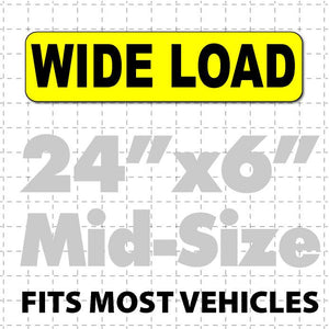 "Wide Load Magnetic Sign 24x6"" - Wholesale Magnetic Signs"