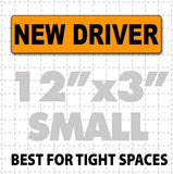 "New Driver Magnetic Car Sign 12"" X 3"" - Wholesale Magnetic Signs"
