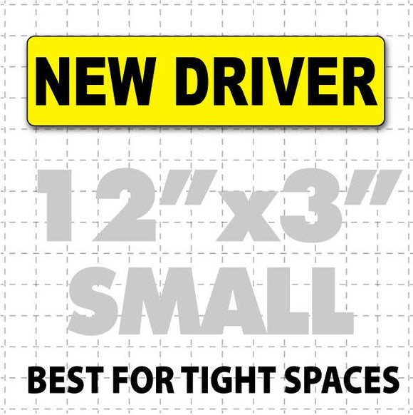 New Driver Magnetic Car Sign 12