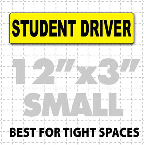"Student Driver Magnetic Sign 12"" X 3"" - Wholesale Magnetic Signs"