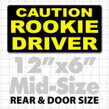 "12"" X 6"" Caution Rookie Driver Magnetic Car Sign - Wholesale Magnetic Signs"