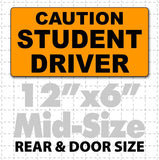 "12"" X 6"" Caution Student Driver Magnetic Car Sign - Wholesale Magnetic Signs"