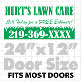Lawn Care Magnetic sign  (layout 6)