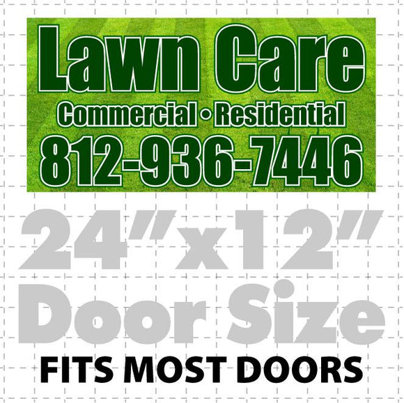 Magnetic Lawn Care Sign (layout 1)