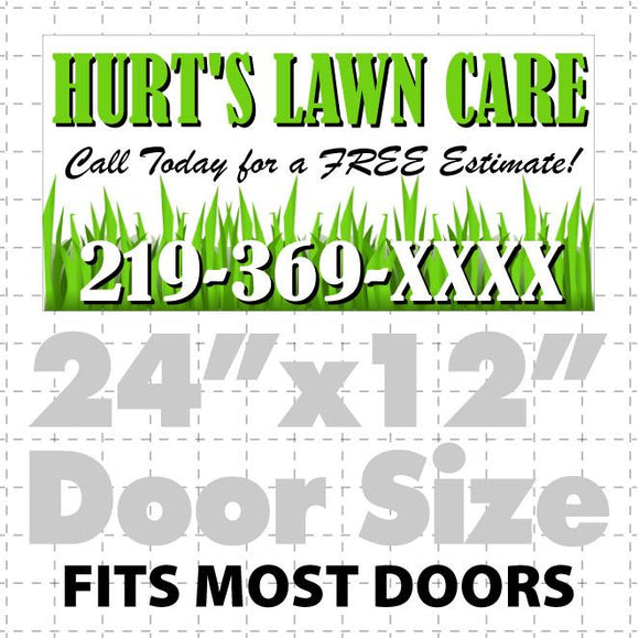 Lawn Care Sign for Cars,Trucks, & Vans (layout 2)