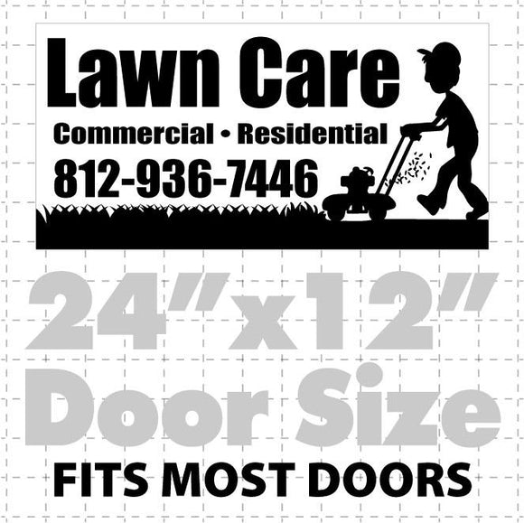Lawn Care Magnetic sign  (layout 4)