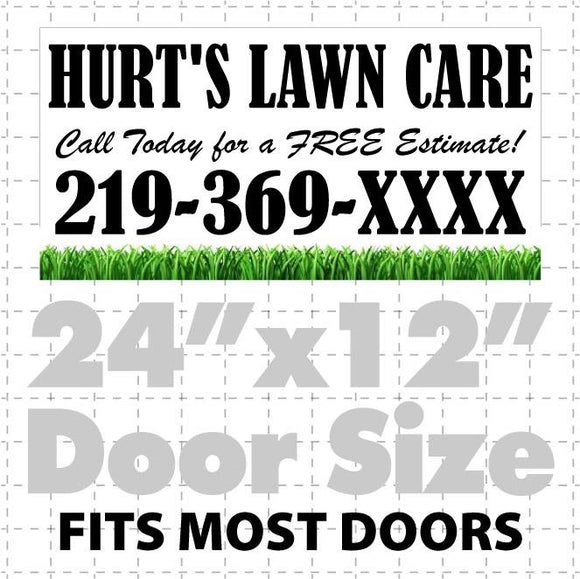 Lawn Maintenance Magnet for Cars, Trucks, & Vans (layout 3) - Wholesale Magnetic Signs