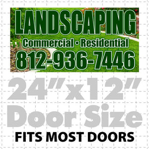 Magnetic Sign for Landscaping Designers (layout 5) - Wholesale Magnetic Signs