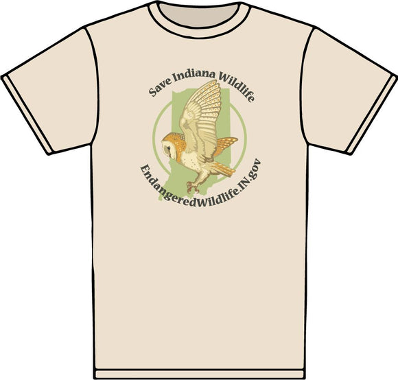 Indiana DNR Nongame Fund T-Shirt in Tan & Vehicle Magnet Combo - Wholesale Magnetic Signs