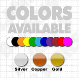 "Color options for 12"" X 6"" We Buy Houses Magnetic Car signs"
