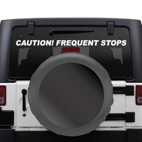 Caution Frequent Stops Vinyl Graphic Kit for Windows, Tailgates, and Bumpers - Wholesale Magnetic Signs